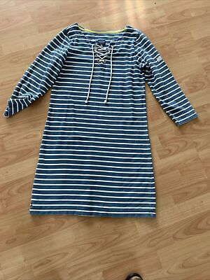 £3 • Buy Ladies Joules Blue /white Dress 12 Great Condition