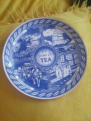 £1.50 • Buy Masons Plate Ironstone Collector Plate Ringtons The Story Of Tea Blue And White