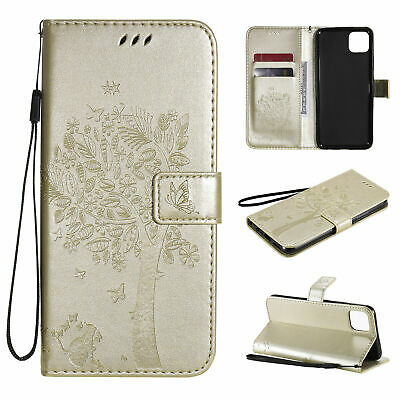 AU8.07 • Buy Tree Leather Flip Wallet Phone Case For Oppo Find X2 A52 A72 A32 A8 A9 A33 A53