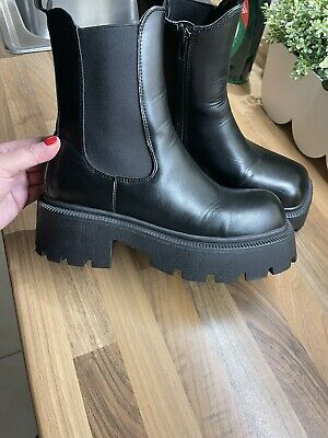£35 • Buy Chunky Sole Boots Size 4