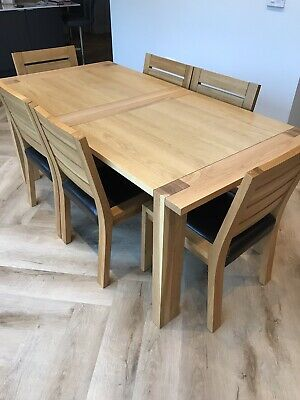 £150 • Buy Solid Oak Dining Table And 8 Chairs.  Marks & Spencer Home