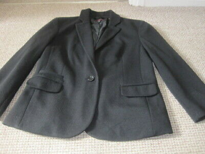£2.49 • Buy New Look Black Jacket Size 14 Three Quarter Sleeves One Button 2 Pockets & Flaps