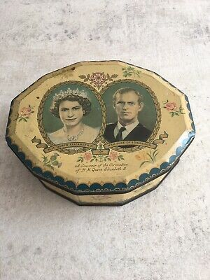 £9 • Buy Wilkins Toffee Tin A Souvenir Of The Queens Coronation