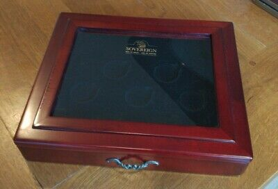 £8.50 • Buy Wooden Coin Display Box With Glass Top And Two Layers,up To 14 Coins. 3.8cm Size