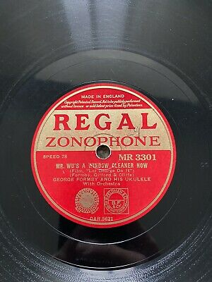"""£12.99 • Buy George Formby 78rpm 10"""" Mr Wu's A Window Cleaner Now MR 3301"""