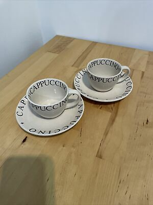 £5 • Buy Whittard Cappuccino Cups And Saucers X 2 - Unused And In Excellent Condition