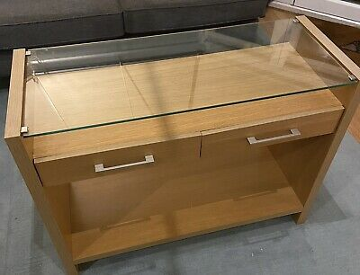 £35 • Buy Marks And Spencer Glass Topped Console Table With Drawers