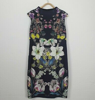 AU38 • Buy ASOS MATERNITY Womens Dress Size 14 Black/Colourful Floral Stretch Sleeveless