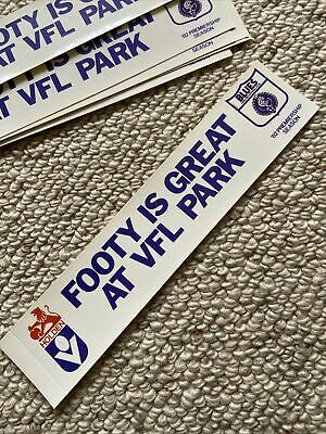 AU15 • Buy 1982 Original Carlton Blues Football Is Great At VFL Park Holden Sticker Decal