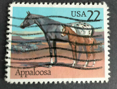 AU0.25 • Buy Used USA POSTAGE STAMPS 1985 American Horse Breeds Appaloosa