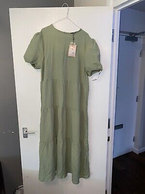 AU6.80 • Buy Missguided Green Maxi Dress - Size 14