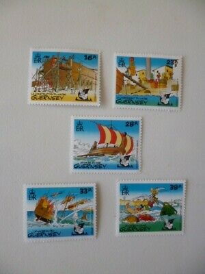 £1 • Buy ,  ASTERIX  Guernsey Mint Stamp Set 1992, 5 Lovely Unusual Stamps.