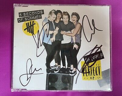 AU64.38 • Buy SIGNED AUTOGRAPHED 5 Seconds Of Summer - She Looks So Perfect EP CD