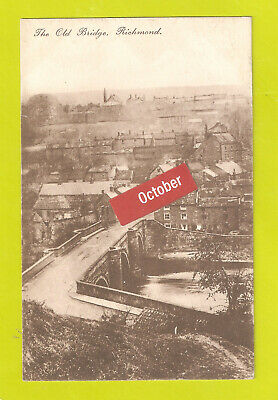 £9.98 • Buy Richmond The Old Bridge North Yorkshire Used 1920 Aerial View From The Castle