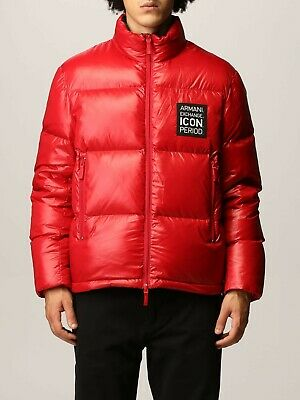 £225 • Buy RRP £450 ARMANI EXCHANGE Mens Red Puffer Jacket Mens Size XL Extra Large Boss Y3