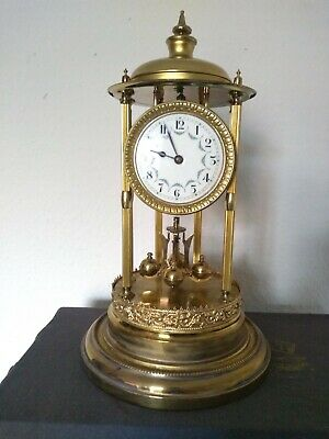 £190 • Buy BANDSTAND LOUVRE 400 DAY ANNIVERSARY TORSION CLOCK Under GLASS DOME