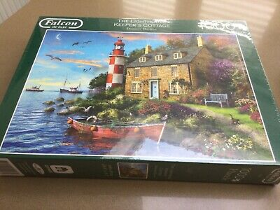£4.95 • Buy NEW JIGSAW PUZZLE Falcon De Luxe 1000 Piece  The Lighthouse Keepers Cottage