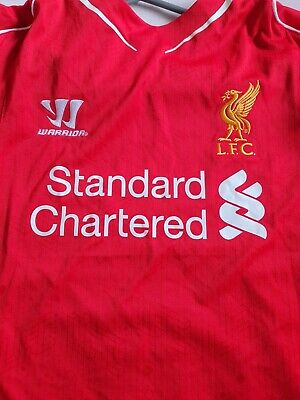 £10 • Buy Worn Once  LIVERPOOL FC 2014-15 Home Shirt  Size LARGE Warrior.