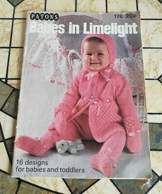 £6 • Buy Patons 'babes In Limelight' - 16 Designs Knitting Pattern Book 176 - Freepost