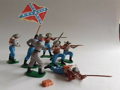 £13.50 • Buy Britains  Swoppets  Confederate Infantry, American Civil War Toy Soldiers X 7