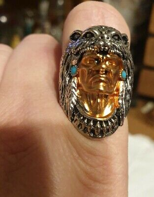 £18 • Buy Native American Indian Chief Head Ring