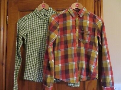 £6.99 • Buy Hollister Womens Brushed Cotton Shirt Blouse Size 8 XS Check Plaid