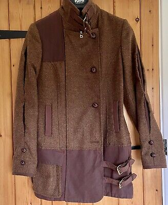 £140 • Buy Holland Cooper Balmoral Field Jacket Size 10 Brown Tweed Country Coat