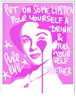 £124.99 • Buy PURE EVIL  Liz Taylor's WORDS OF WISDOM Limited Edition Art Car Boot Print R885