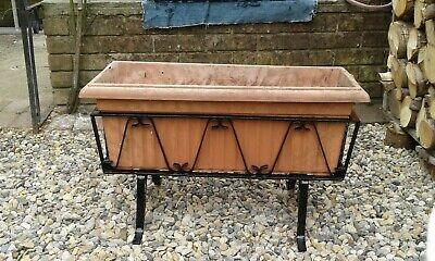 £25 • Buy One Reclaimed Old Metal Wrought Iron Free Standing Plant Pot Trough