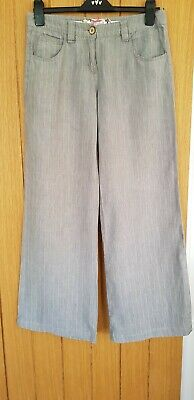 £7.99 • Buy White Stuff Trousers Size 10 Grey White Stripes Excellent Condition