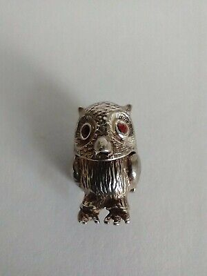 £38 • Buy Adorable And Very Rare Antique 925 Sterling Silver Articulated/opening Owl Charm