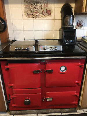 £100 • Buy Rayburn Aga Nouvelle Range Cooker/Stove. Solid Fuel. Red