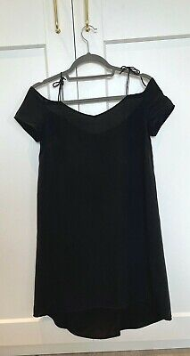 £40 • Buy Tophop Silk Black Dress - Size 6 - Great Condition - Floaty Summer Dress