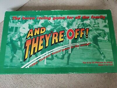 £16.99 • Buy AND THEY'RE OFF! HORSE RACING BOARD GAME 1993 100% COMPLETE Good Condition
