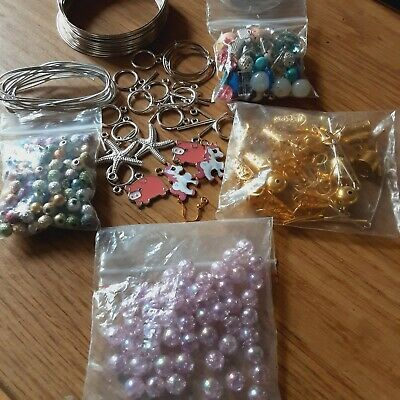 £3.65 • Buy Bundle Of Jewellery Making  Beads, Findings,memory Wire, Toggles  Etc