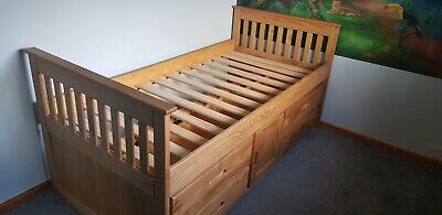 £110 • Buy Single Wooden Bed Frame With Storage.