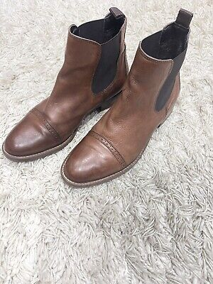 £19.99 • Buy John Lewis Beautiful Tan Leather Low Heel Chelsea Ankle Boots Size 5 / 38