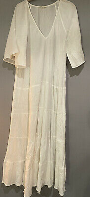 AU35 • Buy Tigerlily Maxi Dress Size Small Cotton Made In India Boho Ivory Stunning