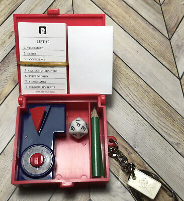 $10 • Buy  Mini Scattergories Board Game Keychain Incl Pencils Dice More 2002 Hasbro