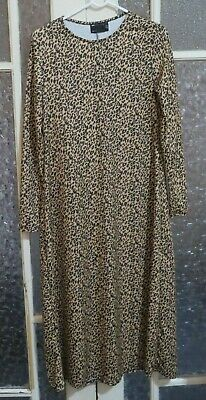 AU0.99 • Buy New Without Tags ASOS Design Long Sleeve Midi Leopard Print Dress.