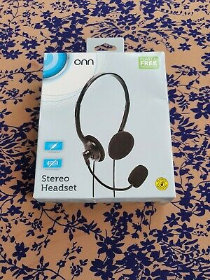 £4 • Buy Stereo Headset  Call Centre, Skype , Office   Headset With Mic   3.5 Mm Jack