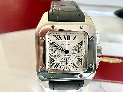 £4601.95 • Buy Cartier Santos 100 XL Chronograph- S/Steel- Automatic- 2740 -Boxes/Papers-