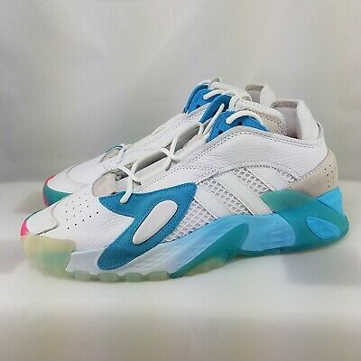 AU133.22 • Buy Adidas Originals Streetball Shoes White/Teal ( Men's Size 10 ) EF6982