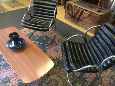 AU1000 • Buy Vintage Retro Black Chairs By Willy Rizzo  1970s - Mid Century Williamstown