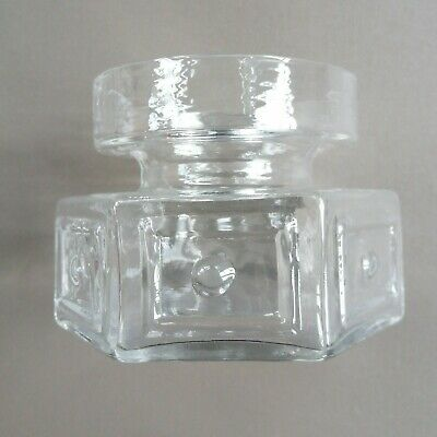 £15 • Buy Dartington (ft88) Clear Hexagonal Candle Holder By Frank Thrower '69 - (h) 8 Cm