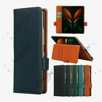 AU23.97 • Buy For Samsung Galaxy Z Fold 3 2 Leather Flip Stand Card Pocket Walllet Case Cover