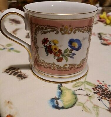 £5.50 • Buy Pink White Gold Floral Past Times Mug Cup Bone China Gift Trembly Rose