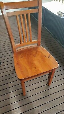AU200 • Buy 6 X Solid Timber Dining Chairs And Extendable Table