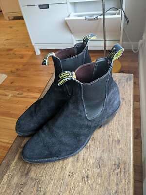 AU300 • Buy RM Williams Boots - Yearling - Black Suede - 9G