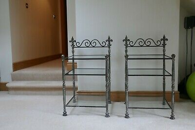 £6 • Buy Bedside Cabanets - Iron And Glass.
